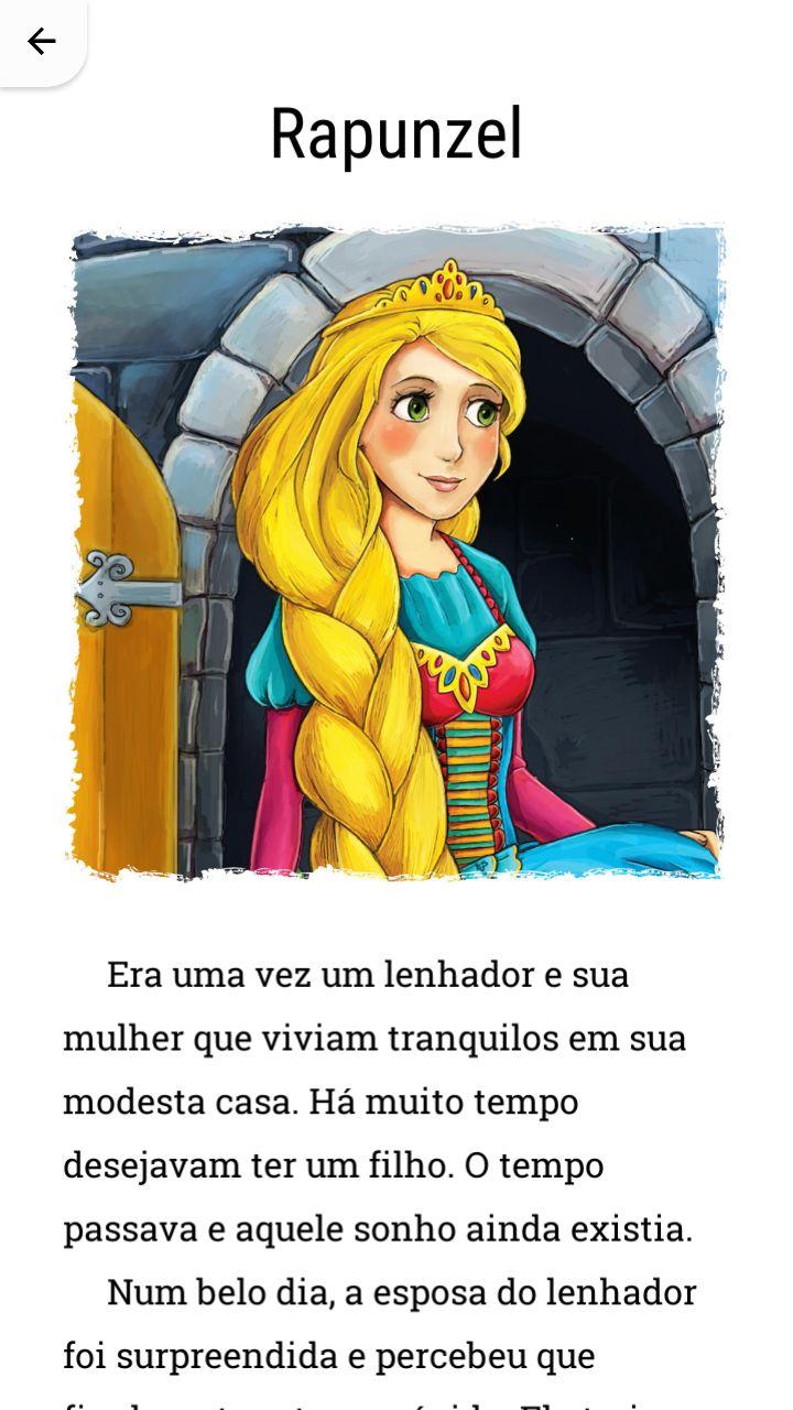 História da Rapunzel.