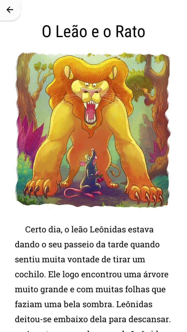 História O Leão e o Rato.