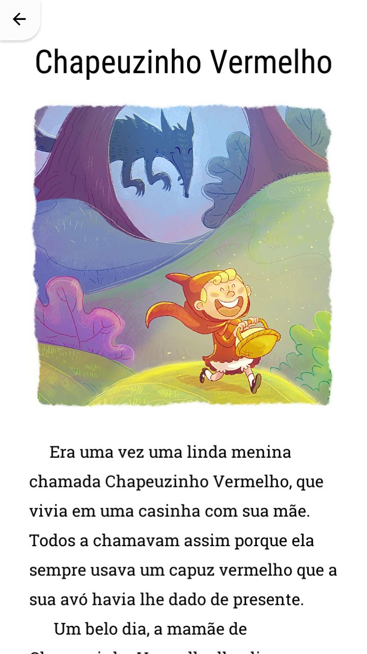 História Chapeuzinho Vermelho.