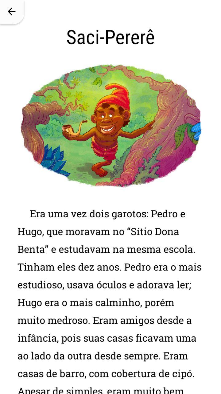 História do Saci-Pererê.