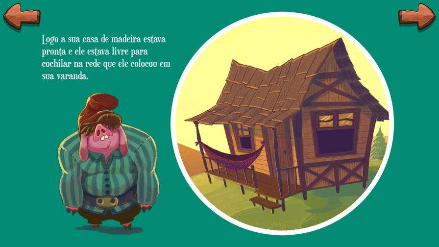 Heitor e a sua casa de madeira